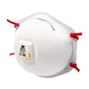 Respiratory Equipment 3M 8833 Cup Shaped Valved FFP3 Dust Mask