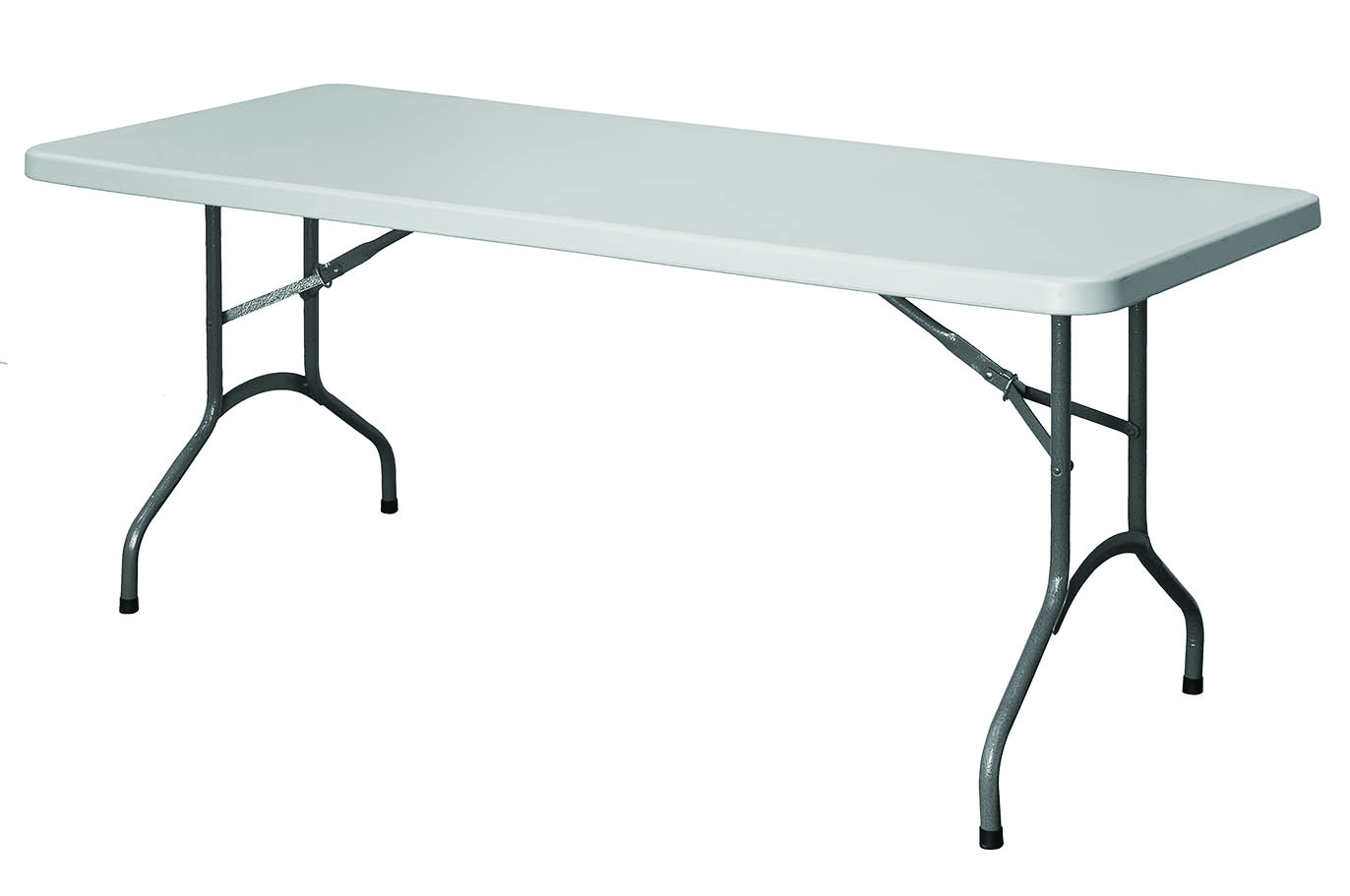 Site Equipment 1800 x 600mm Canteen Table with fold down legs and plastic feet