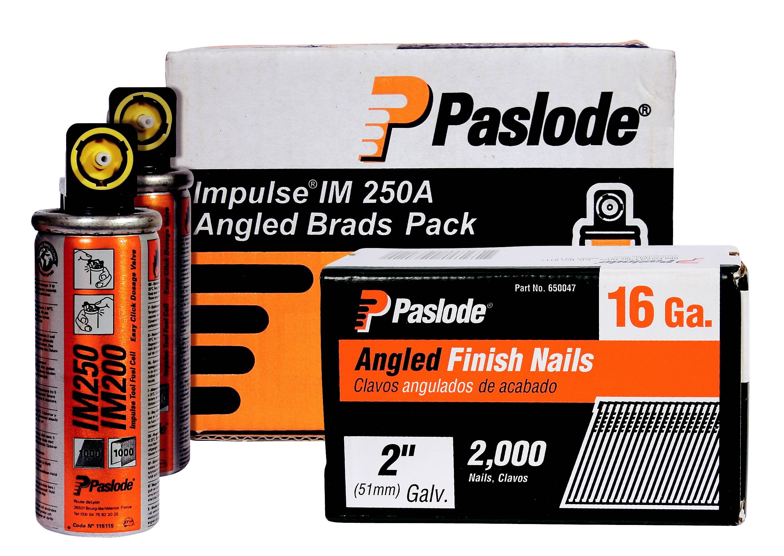 Brad Nails (Second Fix) F16 Paslode Galv Angled Brad Fuel Packs (2000)