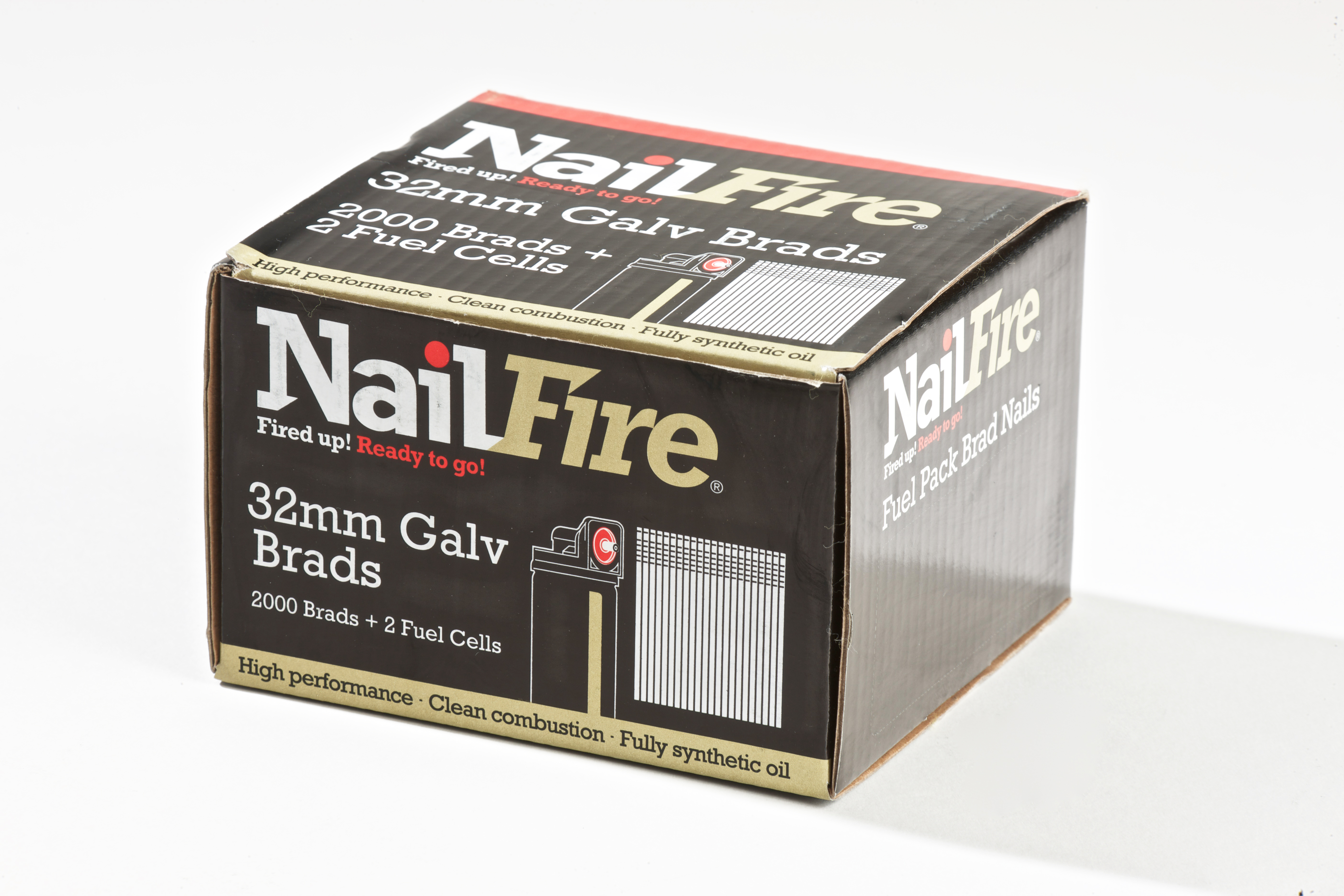 F16 Nail Fire Galv Straight Brad Fuel Pack (2000)