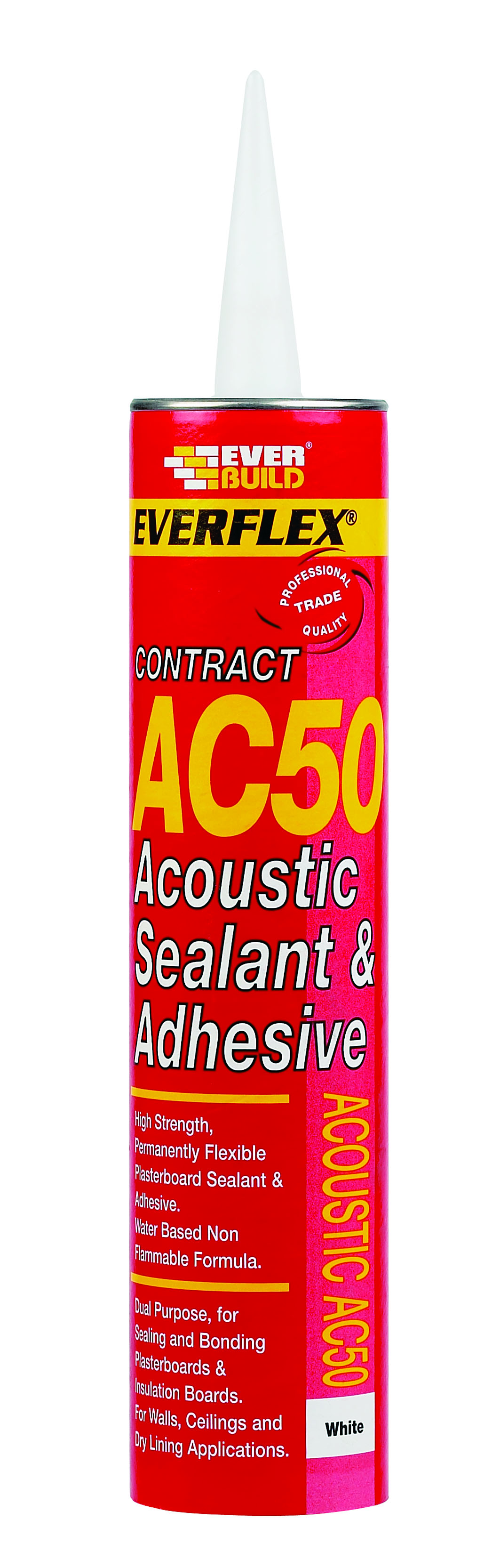 900ml Jumbo Cartridge White Acoustic Sealant & Adhesive