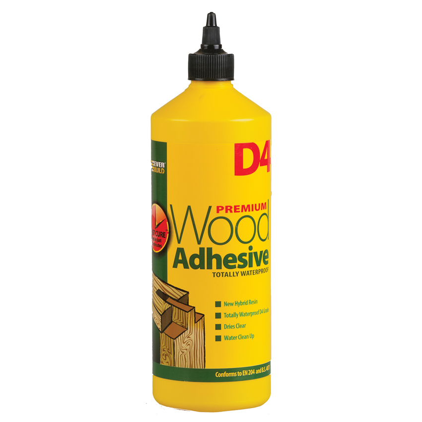 PVA Adhesives 1 Litre 10 Minute Water Resistant D4 Wood Adhesive