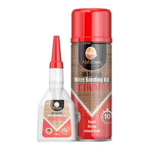 Mitremate & Superglues 50g + 200ml Two Part Mitre Bonding Adhesive System