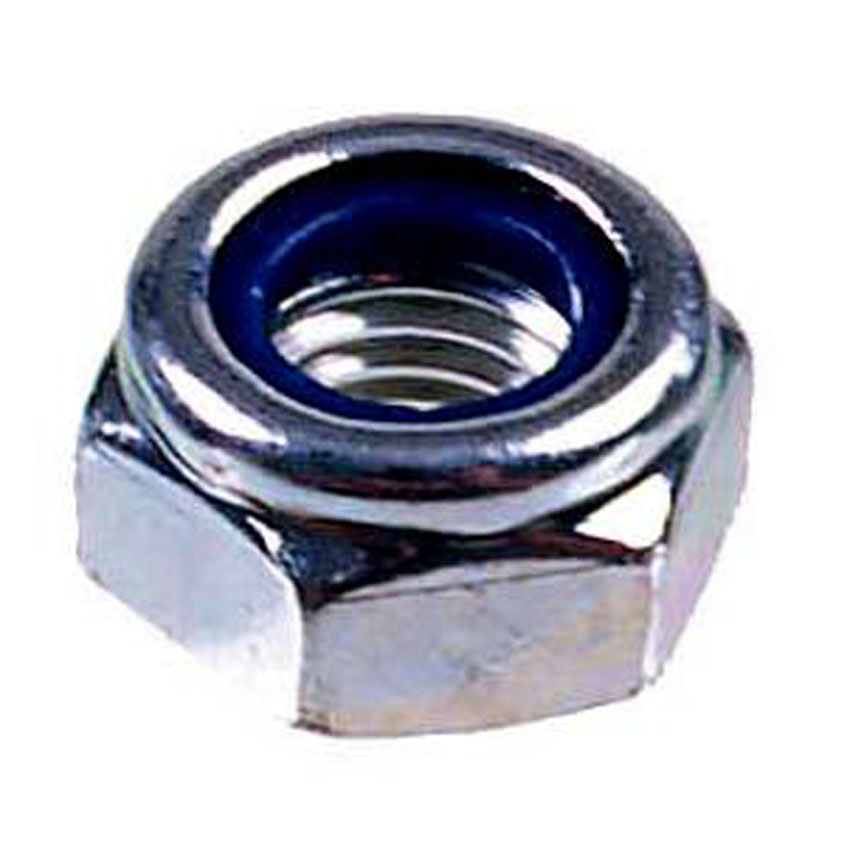 "Nuts BZP Nylon Insert Nuts Type ""T"" Thin Type DIN 985"