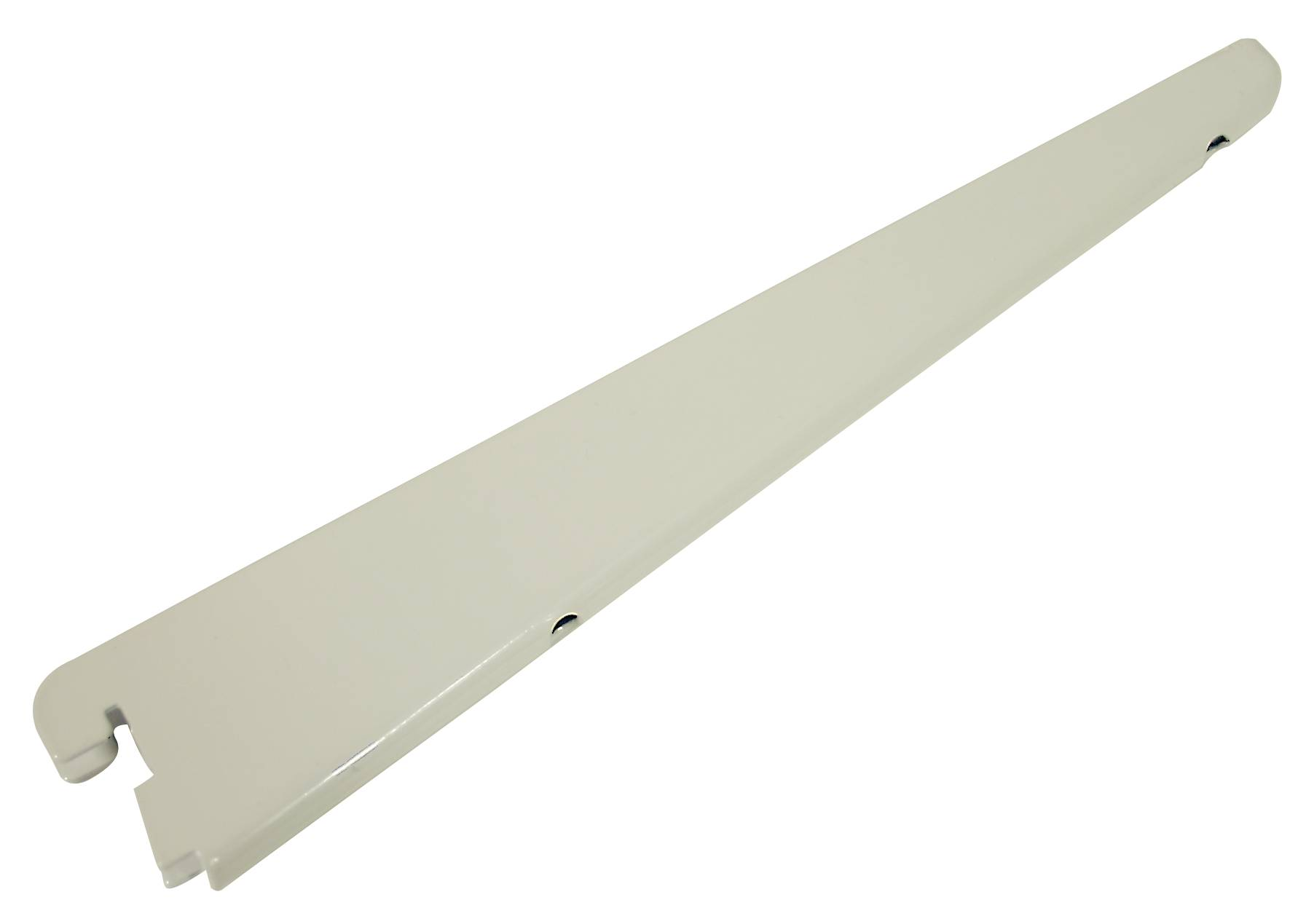 White Straight Twin Slot Shelf Brackets