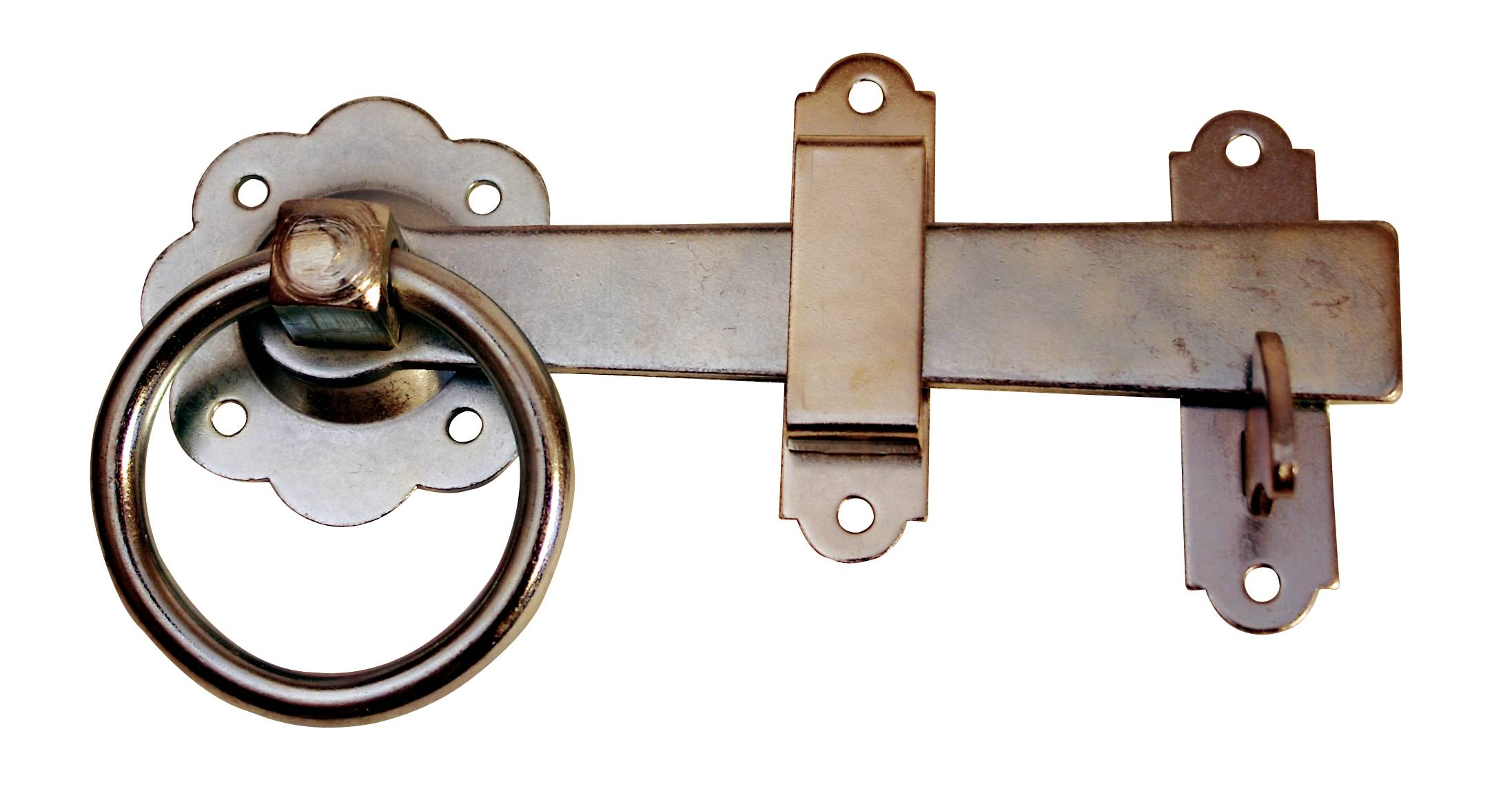 150mm Zinc Plated Plain Contract Gate Ring Latch