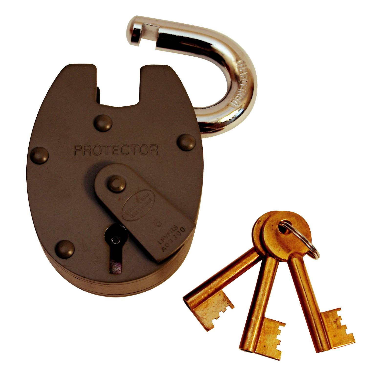 63mm 6 Lever Closed Shackle Padlock