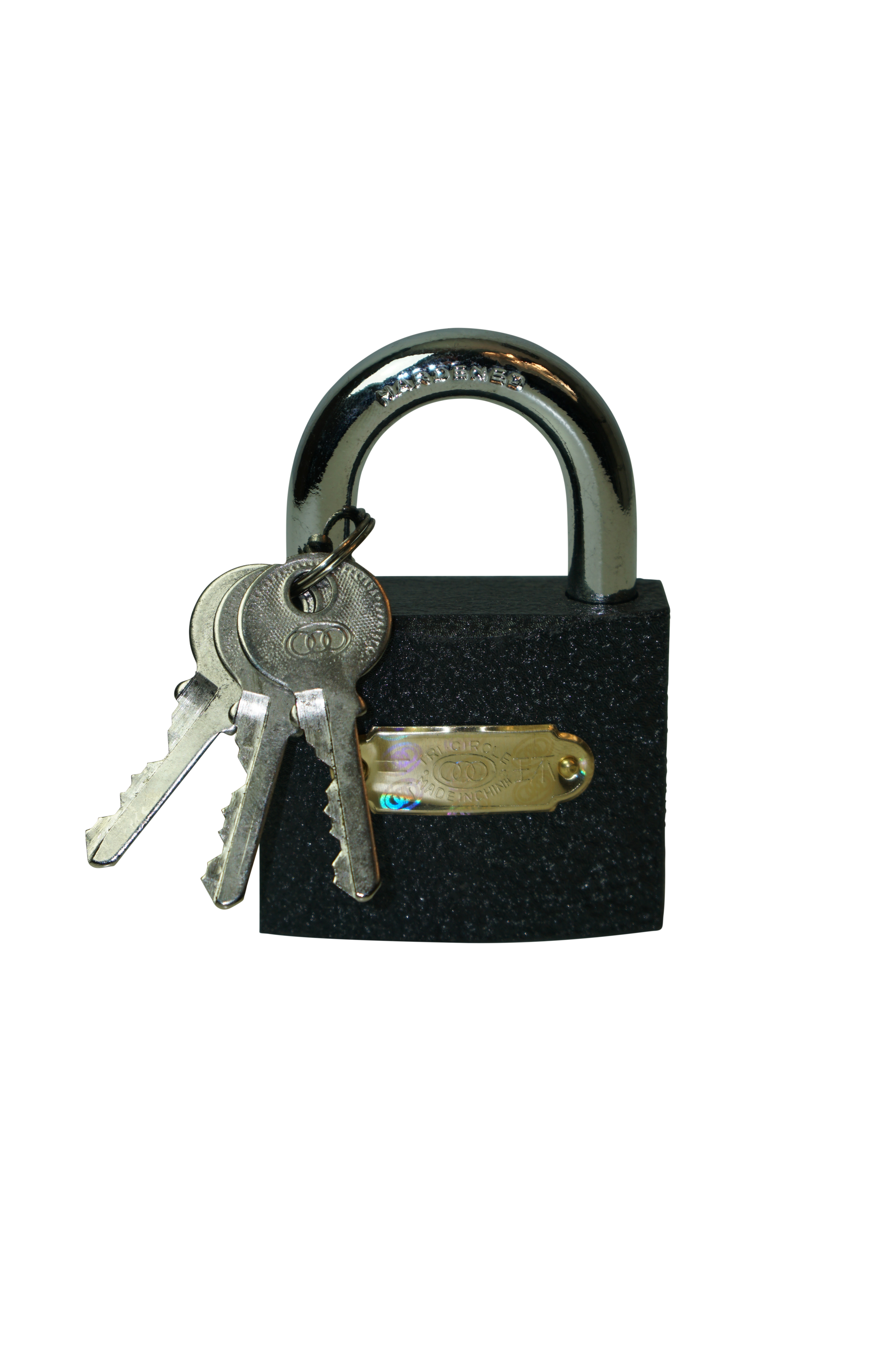 32mm TriCircle Iron Padlock with Brass Cylinder
