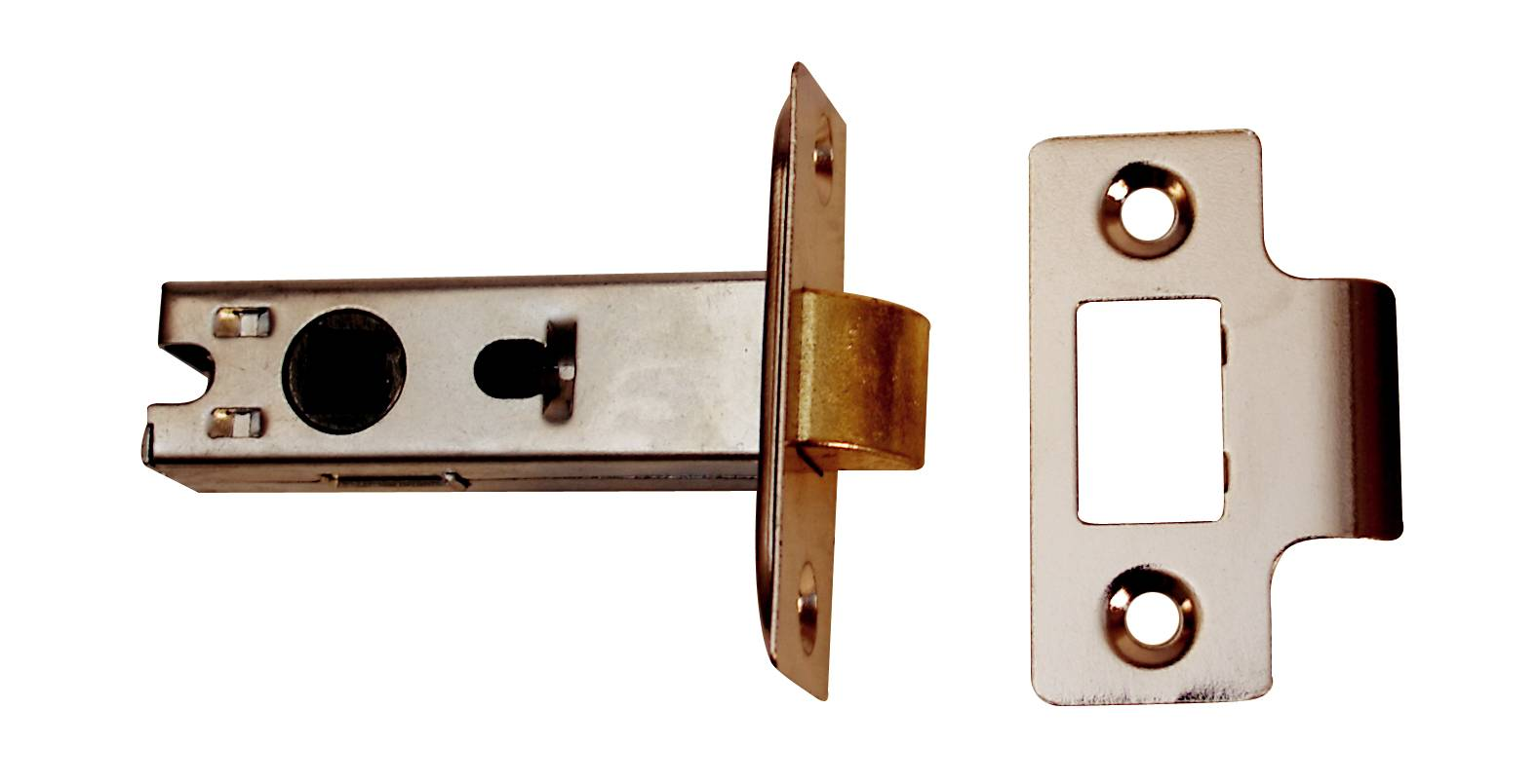 63mm Nickel Plated Contract Tubular Mortice Latch