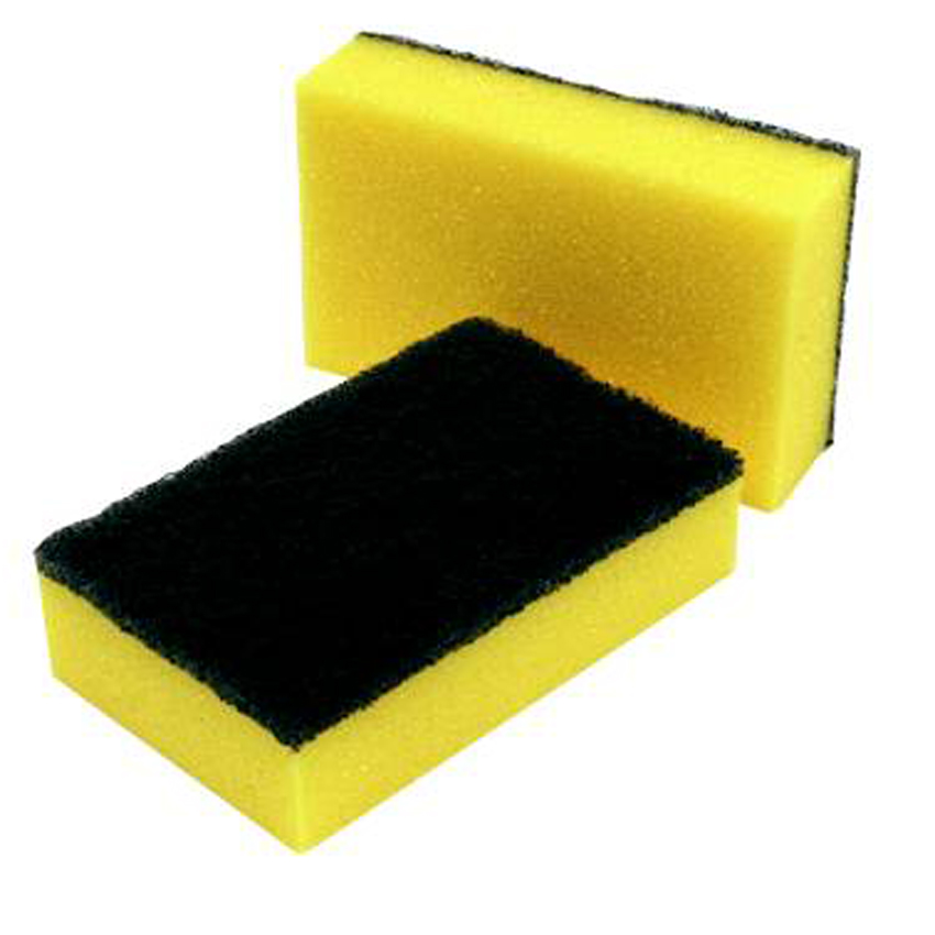 "Cleaning Equipment Standard (2.5"" x 3.5"") Sponge Scourers (Pack of 10)"
