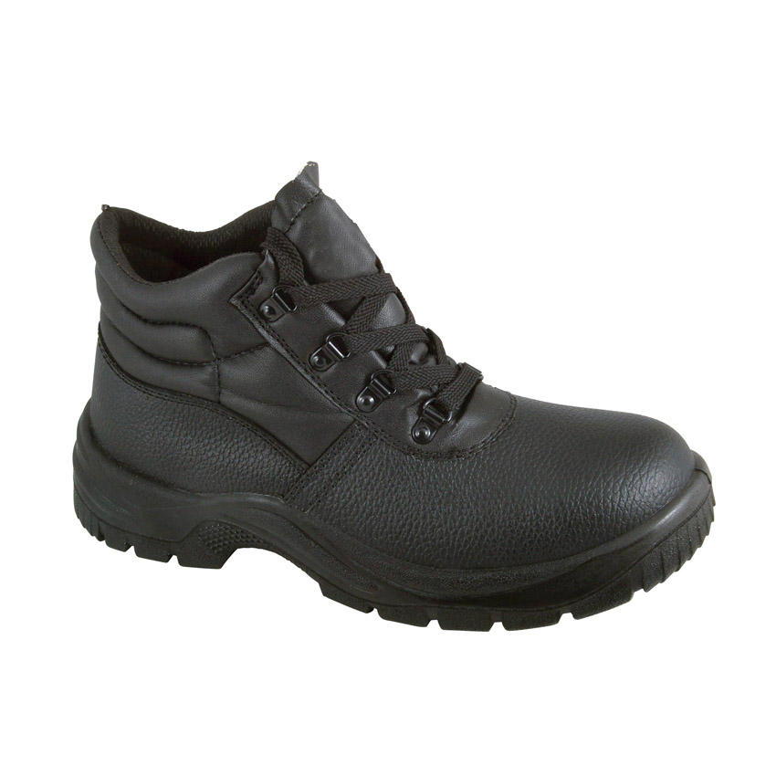 Black Chukka Safety Boots with Steel Toecap and Midsole