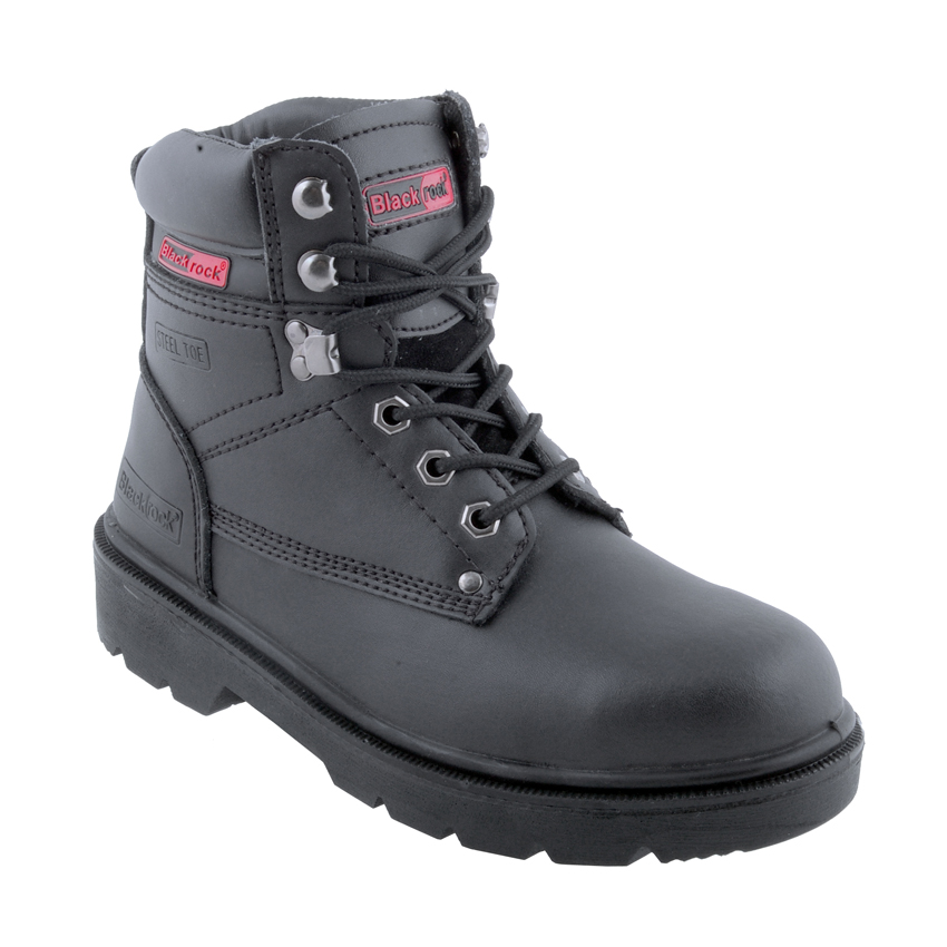 Black Rock Black Ultimate Boots with Steel Toecap and Midsole