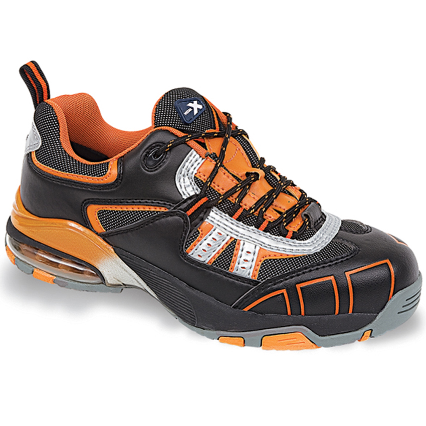 VX003 Airflow Black/Orange Extreme Trainers