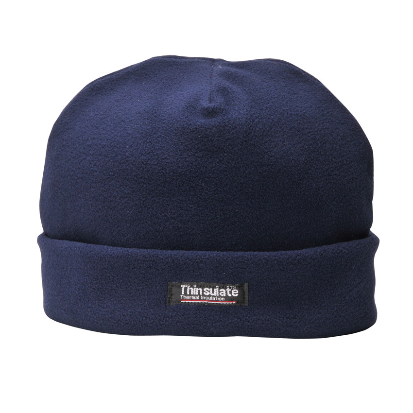 Black Thinsulate Lined Fleece Hat