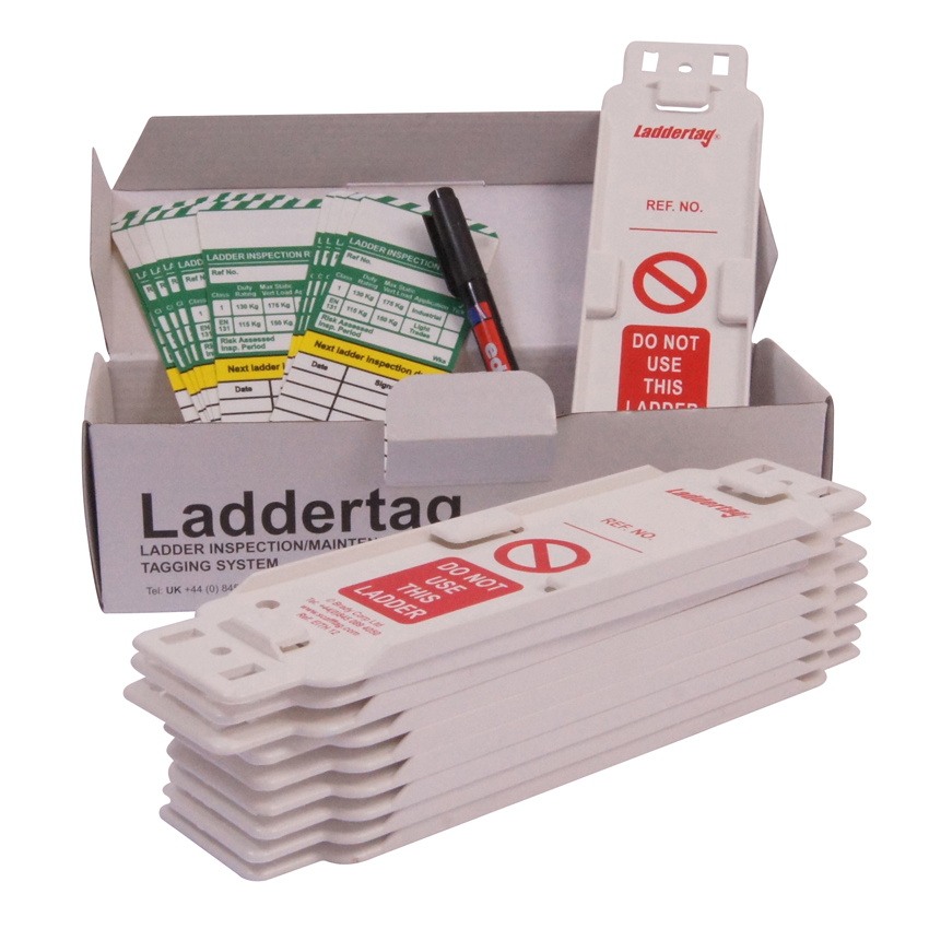 Laddertag Kit comprising 10 x Holders and 10 x Inserts