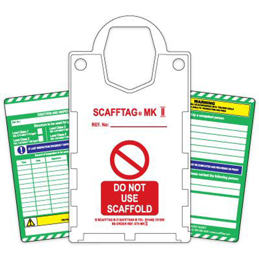 Scafftag Kit comprising 10x Holders and 20x Standard Inserts