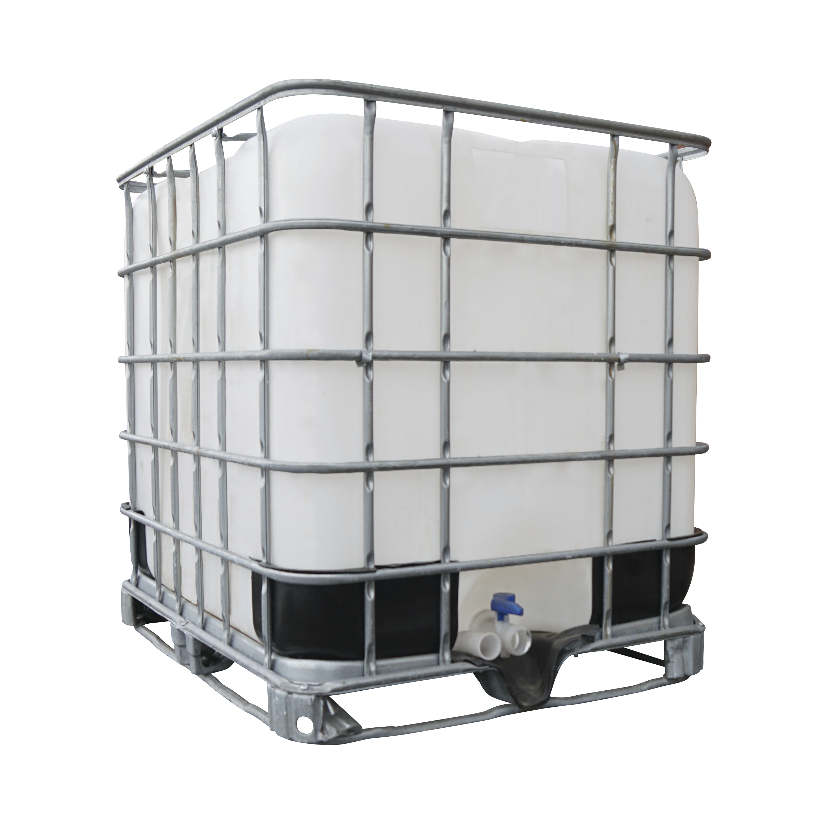 1000 Litre IBC Container with Tap and Frame to enable Forktruck Transportation