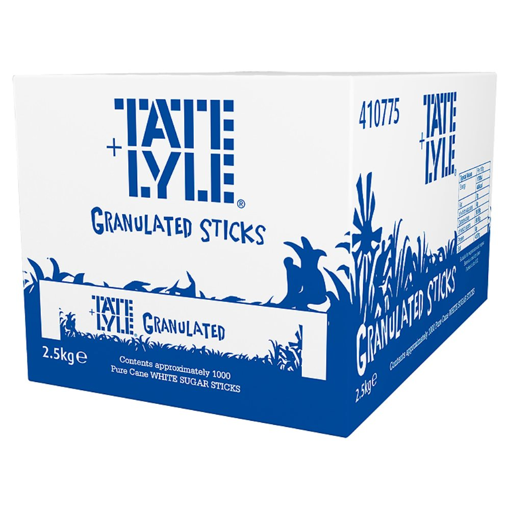 Site Equipment Branded White Sugar Sticks (Box of 1000)