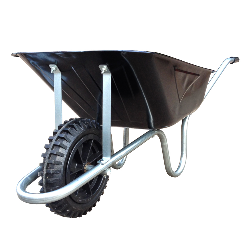 85 Litre Contractors Wheelbarrow with Solid Tyre