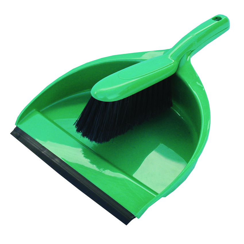 Standard Plastic Dustpan & Brush