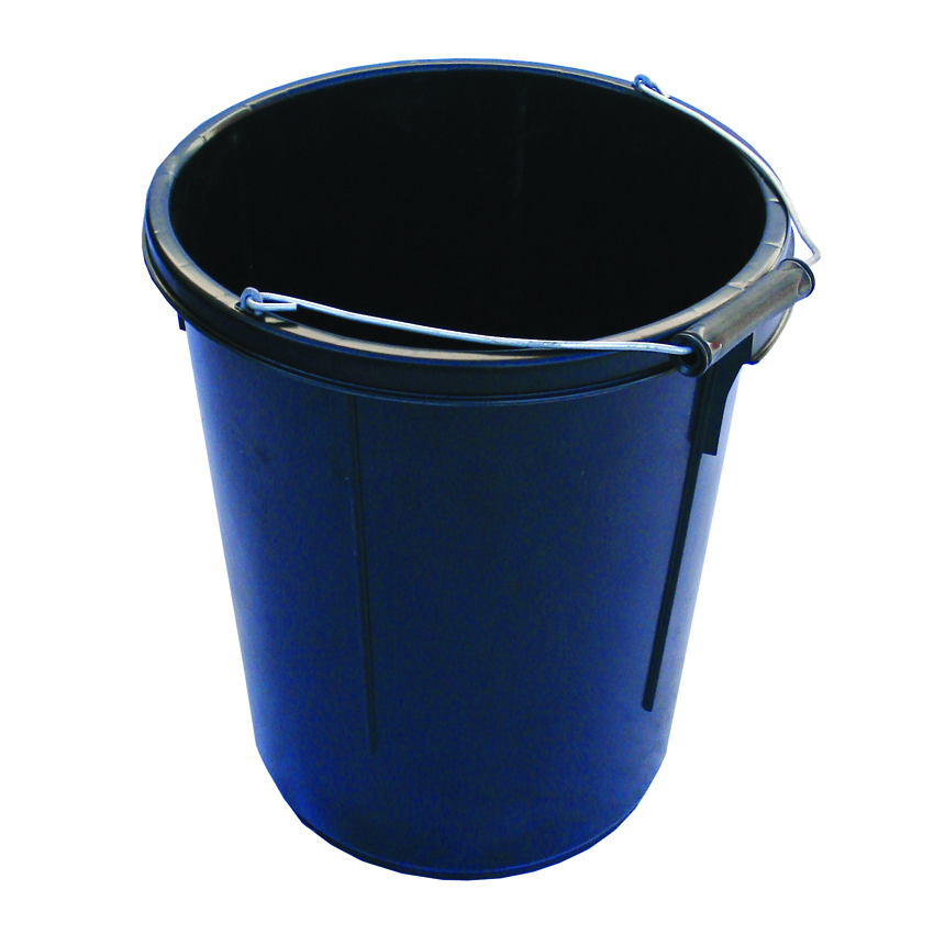 30 Litre Black HD Plasterers Mixing Bucket